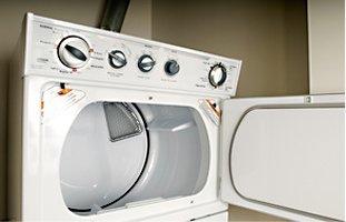 Opened washing machine