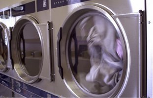 Clothes being dried in the dryer