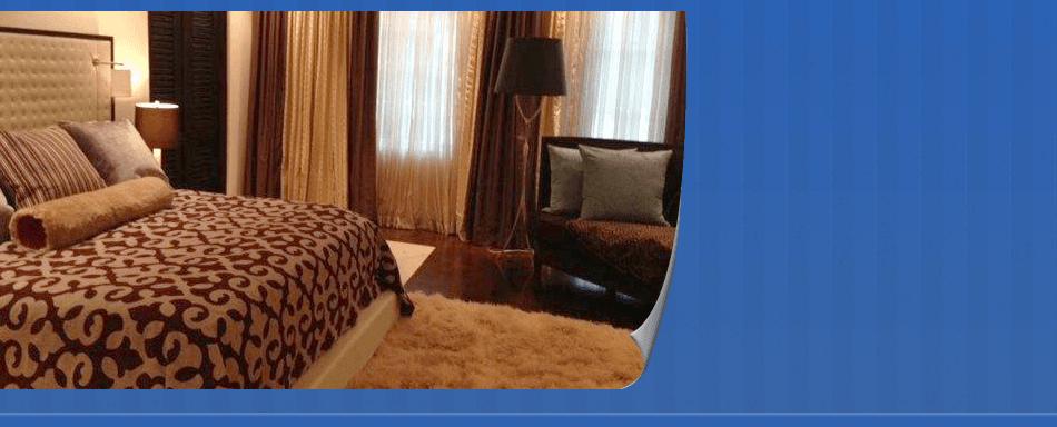 Elegant bed and furnitures