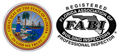 FL State Seal and Florida Association of Building Inspectors, Inc. logo