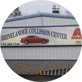 Rhinelander Collision Center Sing Board