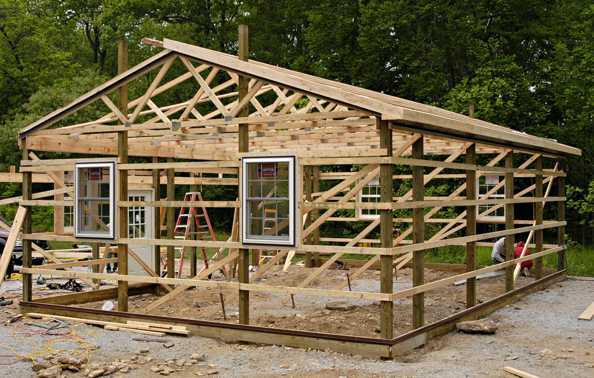 Post and frame construction frame design reviews for Post frame building plans
