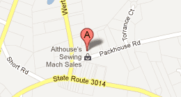 Althouse's Sewing Machine Sales & Service 2371 Packhouse Rd. Fogelsville, PA 18051-2015