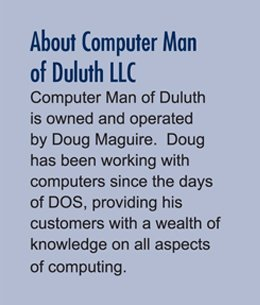 Computer Service - Duluth, MN - Computer Man Of Duluth