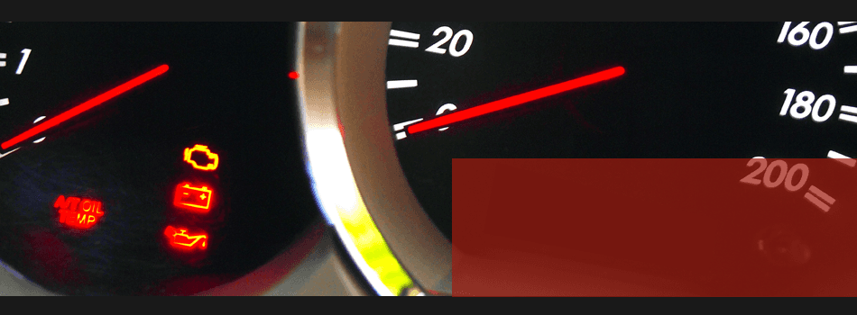 A View Of Engine Lights Appearing In Dash Board