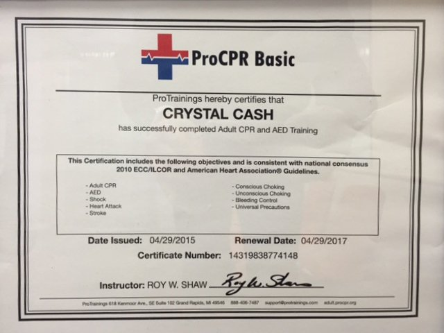 ProCPR Basic Certificate
