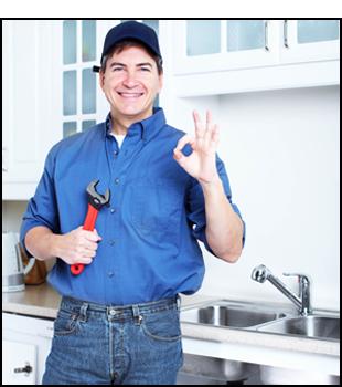Happy plumbing contractor