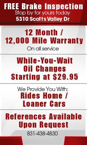 Automotive services - Scotts Valley, CA - Bill Chapman Automotive Services