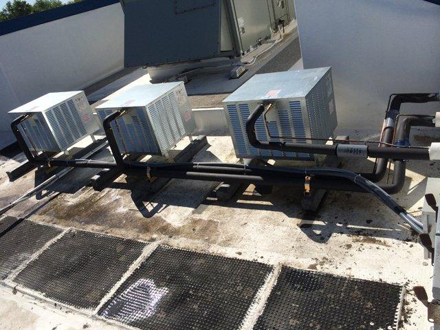 Three rooftop units