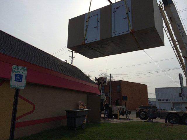Installation of walk-in refrigeration unit
