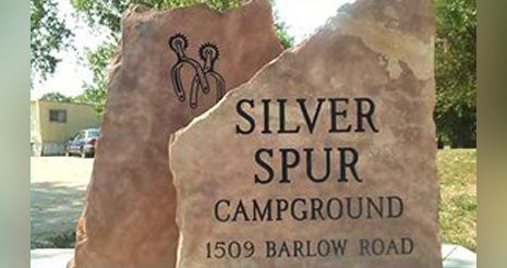 Silver Spur Logo on the Rock