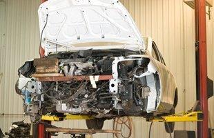 On process car repair