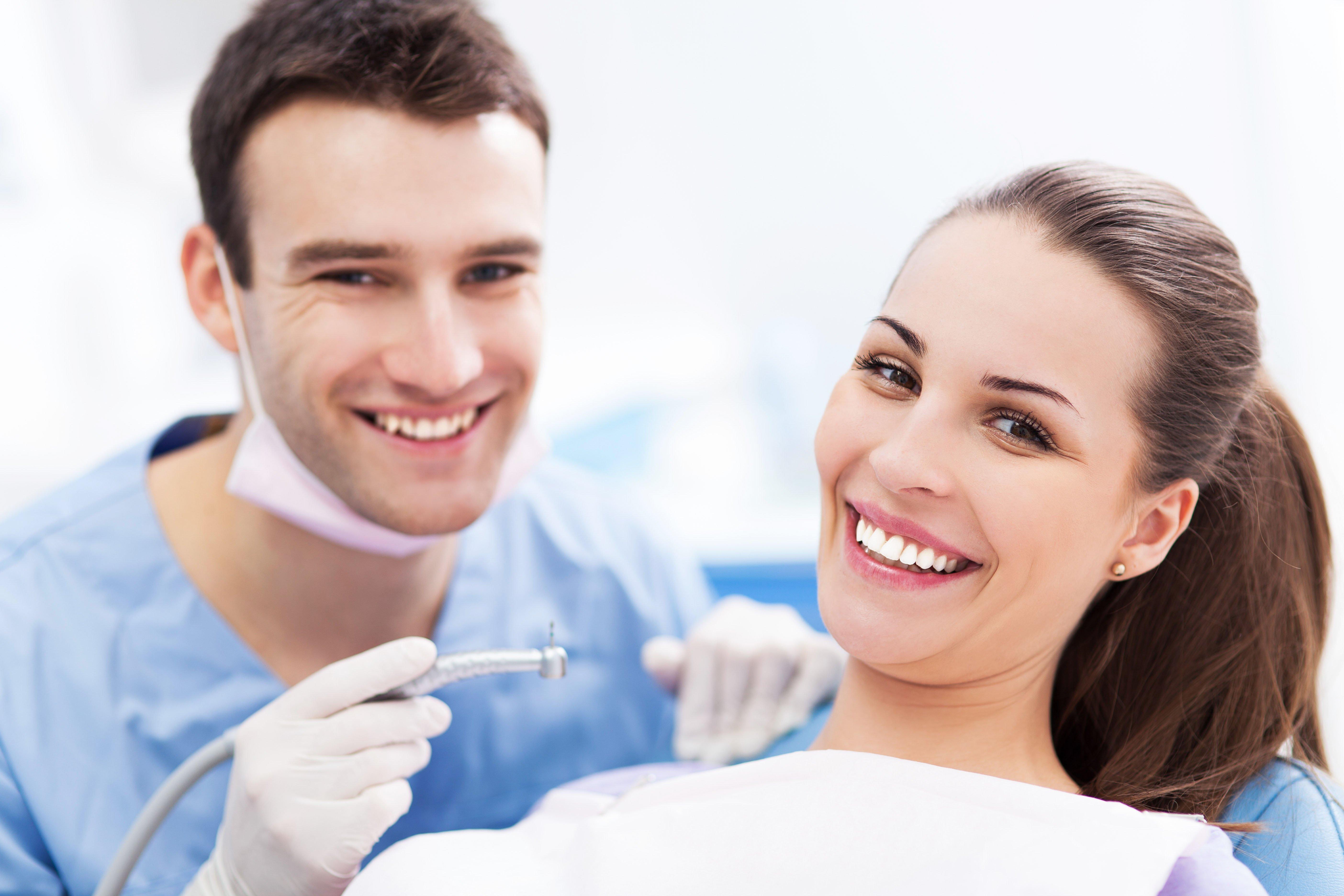 Girl at dental clinic