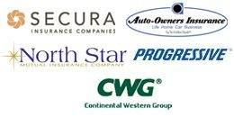 Auto Owners, Secura, Northstar Mutual, Progressive, and Continental Western Group