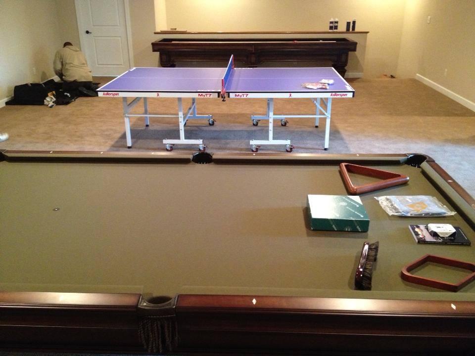ping pong table & pool table