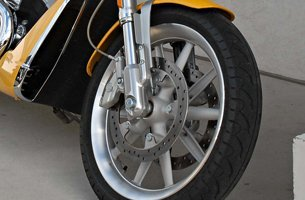 Front wheel of a motorcycle