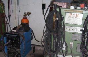 Machines in a garage