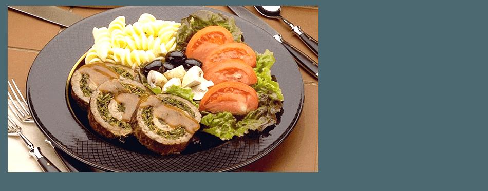 Italian meat and salad
