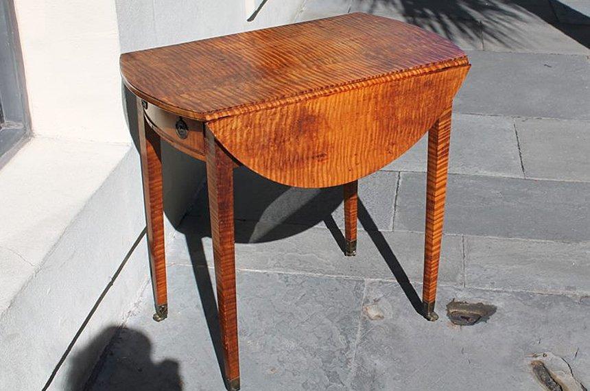 American Tiger Maple Pembroke Table