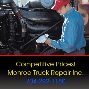 Truck Repair Shop - Monroe, NC - Monroe Truck Repair Inc. - Competitive Prices! Monroe Truck Repair Inc. 704-292-1180