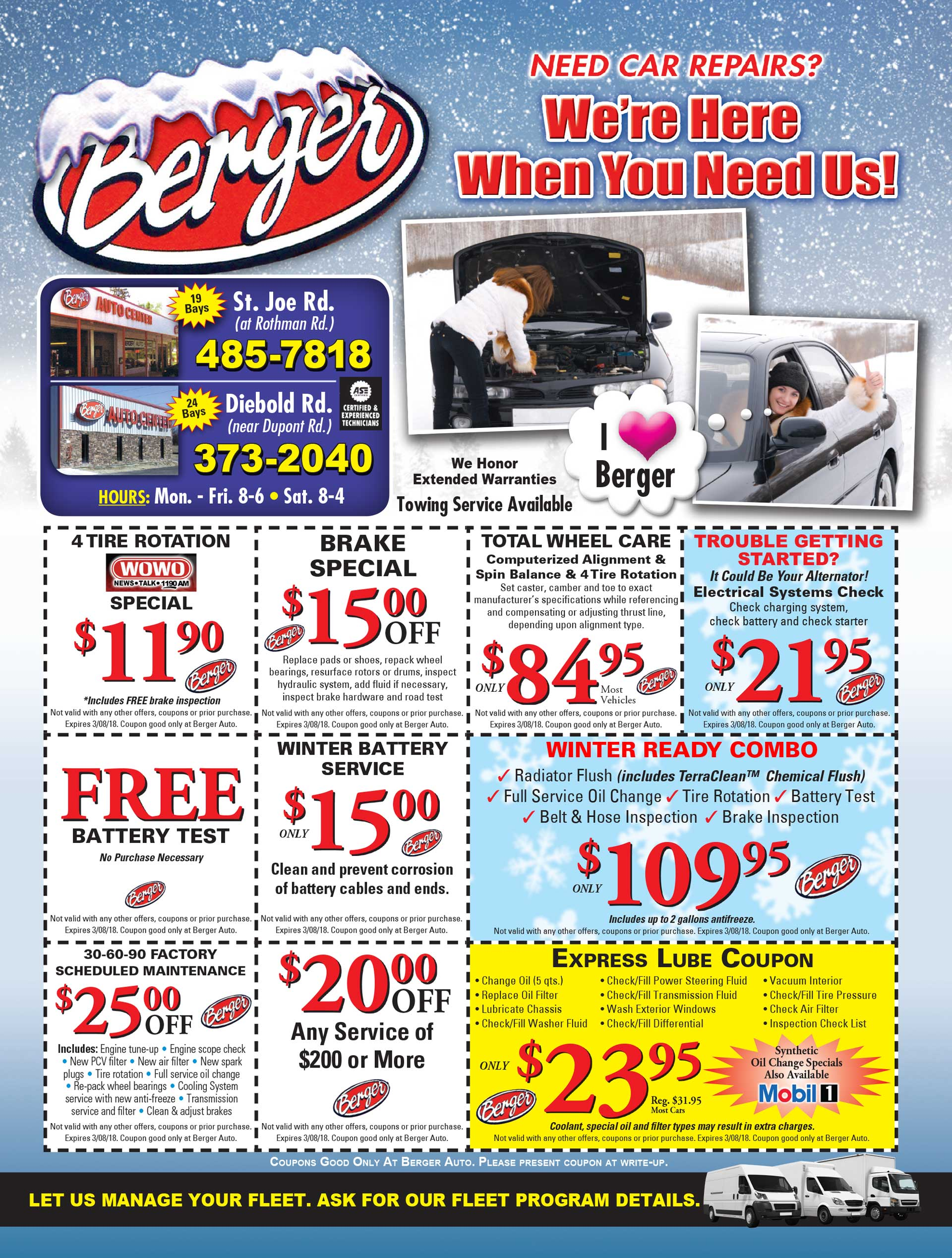 Berger Auto Coupons