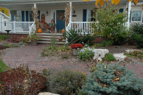 Landscaped house front