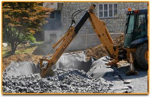 Strip Mall Excavation   Sinking Spring, PA   R & F Excavating Company   610-678-8330