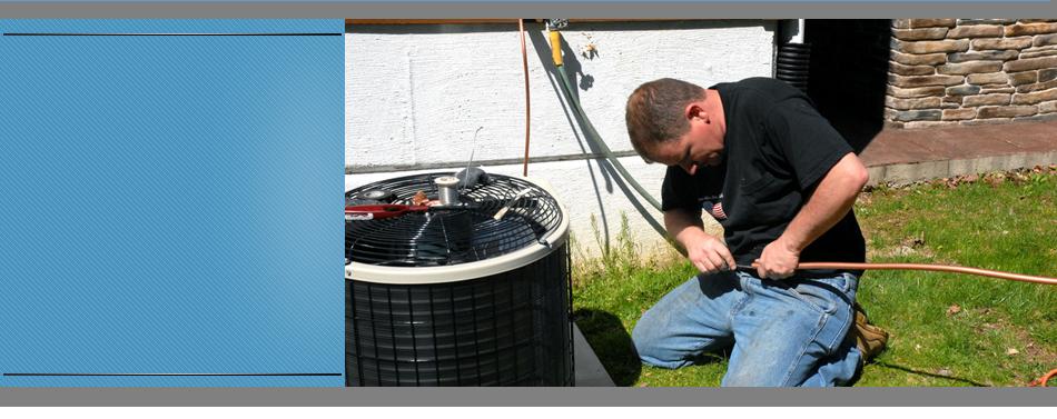 Technician fixing the AC