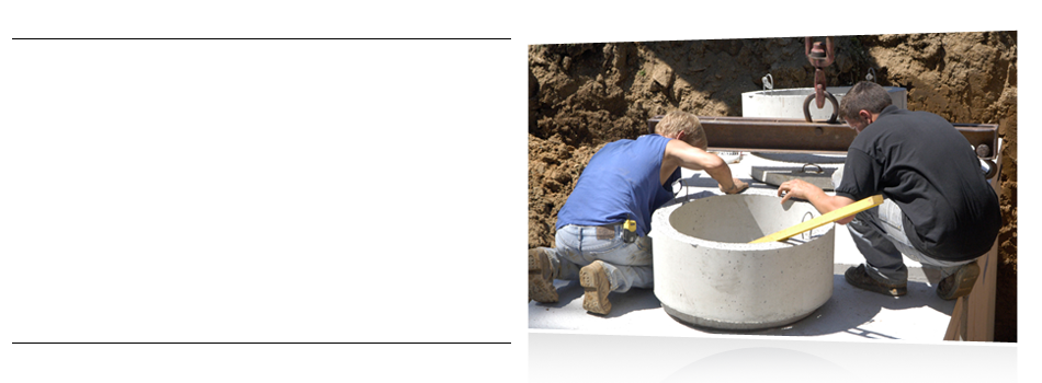 Sewer line installation