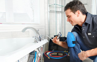 Bathroom plumbing work by a plumber