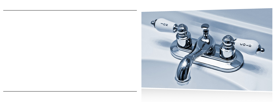 A picture of faucet