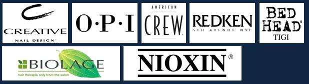 Creative Nail Design, OPI, American Crew, Redken, Bed Head Tigi, Biolage, Nioxin