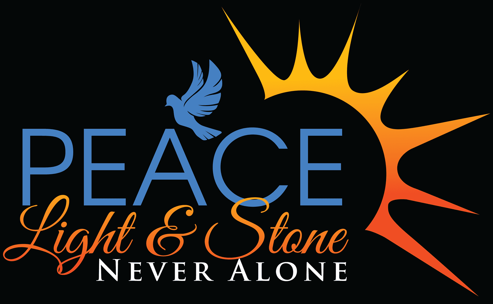 Peace Light and Stone - logo