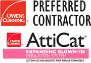 Owens Corning Preferred Contractor, Owens Corning AttiCat Logo
