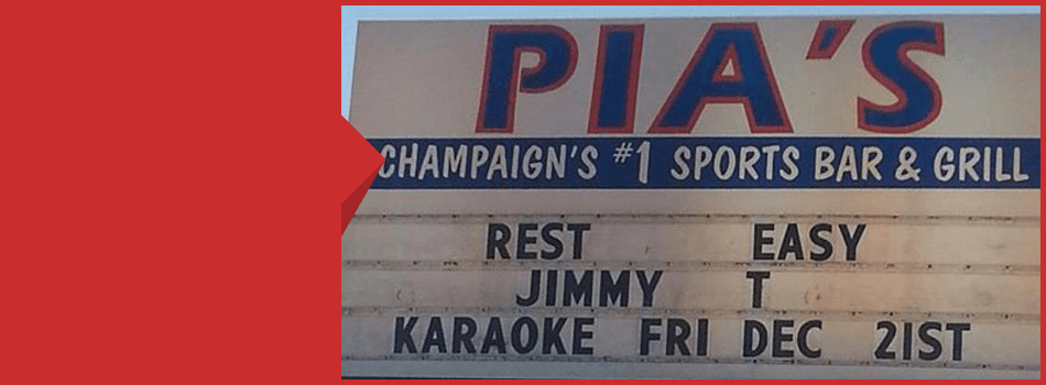 Pia's Sports Bar & Grill signage