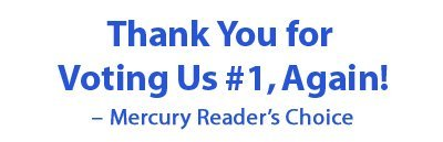 Thank You for Voting Us #1, Again! – Mercury Reader's Choice