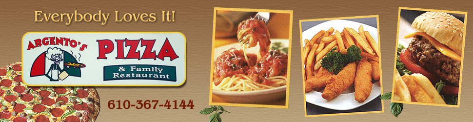 Italian and Gourmet Style Pizza Restaurant - Argento's Pizza & Family Restaurant - Boyertown, PA