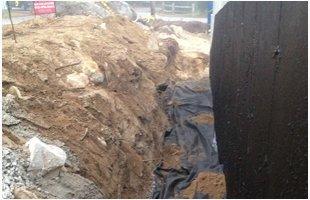 Excavated ground