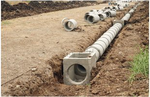 Installing pipe line
