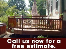 Deck Installation - Wichita, KS - Accu-Built Fence & Deck - wood deck - Call us now for a free estimate
