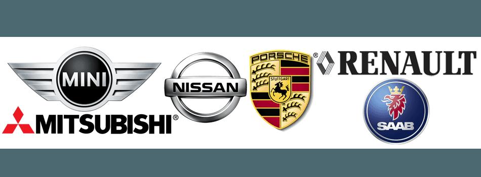 Minicooper  Mitsubishi  Nissan Porsche  Renault Saab