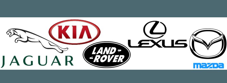 Jaguar  Kia Land Rover  Lexus  Mazda Mini cooper
