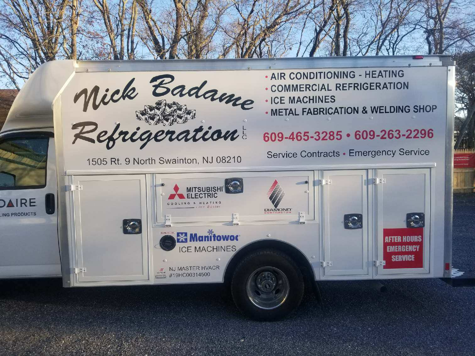 Nick Badame Refrigeration Llc Cape May Court House Nj Air Conditioning And Heating Electrical Produced By Truck