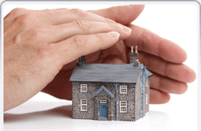 hand protecting house