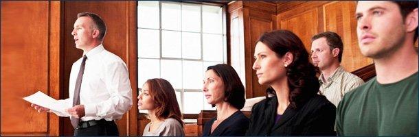 People on court room