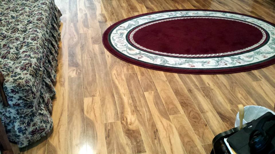 Flooring with carpet