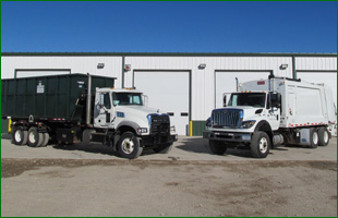 Trucks for rent  for cleaning and recycling rervices