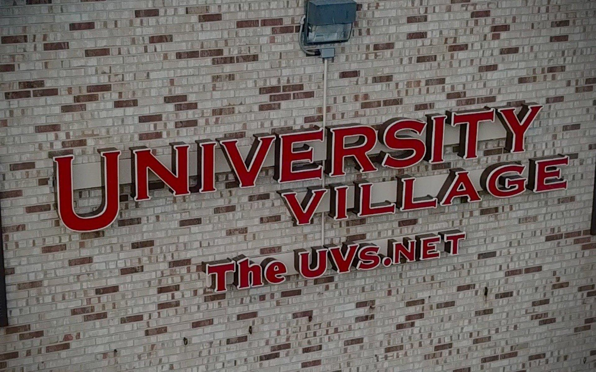 University Village signage