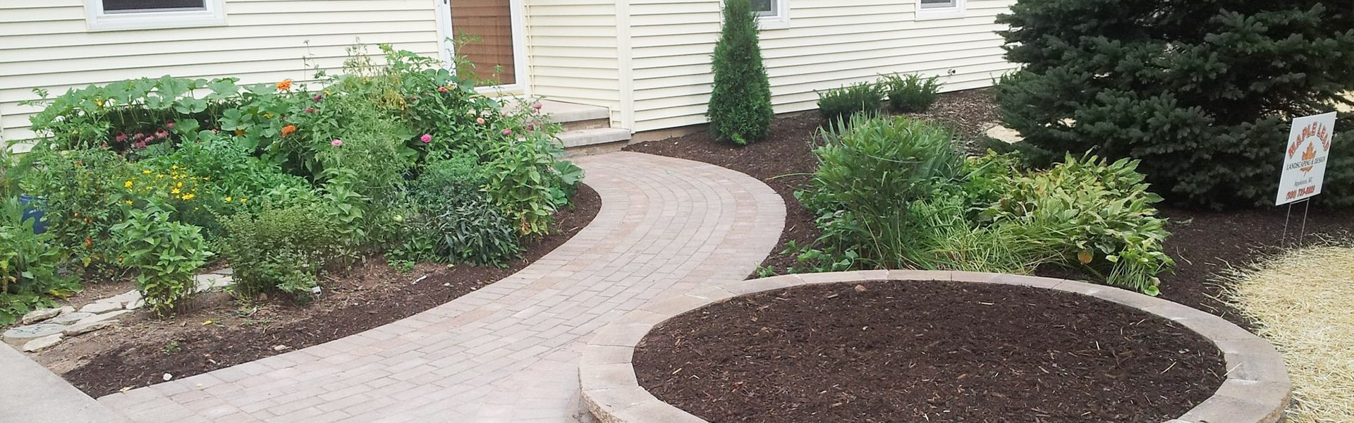 Walkway with planter