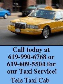 Taxi Cab - San Diego, CA  - Tele Taxi Cab